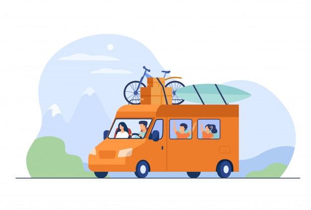 dad mom children traveling camper 74855 7139